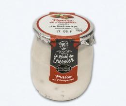 Yaourt aux fraises de Plougastel, le pot de 125g